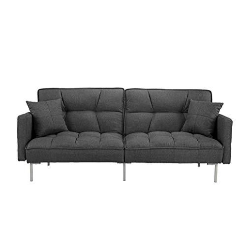 BHDesign Ashley - Canapé Convertible Design - Tissu - Coloris Gris foncé