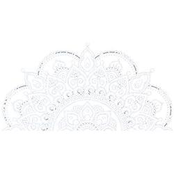 Pared Mandala Hermosa Creativo Desmontable Flor Apliques de PVC Pegatinas de decoración del hogar Blanco