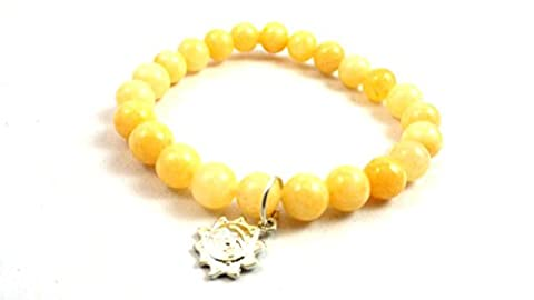 New Year Sale ! Calcite Beads Bracelet With GOOD MORNING SUNSHINE Sun Charm Natural Gemstone Stone Beads Size - 8mm Long Balancing Positive Energy Harmony Luck Yoga Meditation For increases and amplifies energy Cleansing, Reconciliation Free Set Of 3 Lapis Lazuli Pyramid