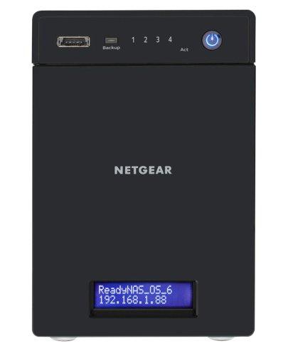 NETGEAR RN31442D-100EUS ReadyNAS 314 NAS-System 8TB (8,9 cm (3,5 Zoll), Intel Atom D270x, 2,1GHz, 2GB RAM, 4-Bay, SATA II, HDMI, 2x USB 3.0)