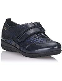 Zapatillas cerrada de licra con elasticos a los lados con dos botoncitos dorados Doctor Cutillas en marrón talla 35 A7squF