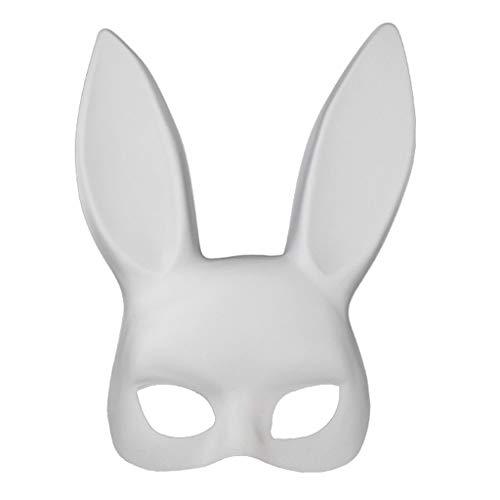 Longsw Weiße Schwarze Frauen-Mädchen-sexy Kaninchen-Häschen-lange Ohr-Maske Halloween-Partei Cosplay