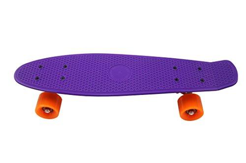 "Preisvergleich Produktbild Lila Fischplatte 22 ""Skateboard Kleine Retro Cruiser Skateboard langes Brett 55 * 14 * 9 cm"