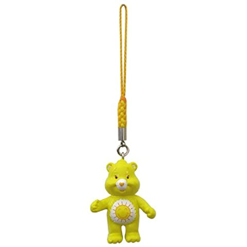 Official Runa Care Bears Mascot Mini Figure with Loop - 1.5' Yellow (Japanese Import)