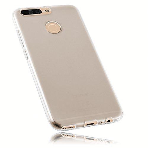 mumbi Schutzhülle für Huawei Honor 8 Pro Hülle transparent weiss