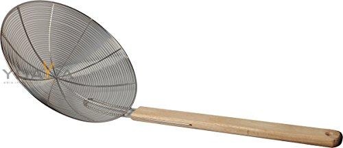 Metallsieb mit Holzgriff Ø 20cm Wok-Sieb Abtropfsieb Seiher Durchschlag Rundsieb - Wok-sieb