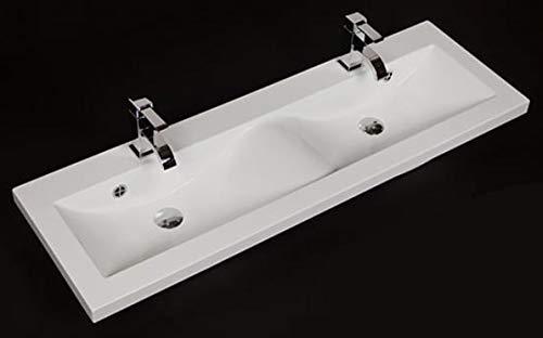 Quentis Doppelwaschplatz Genua 120, Waschplatzset 3-teilig, anthrazit glänzend, 4 Schubladen - 6