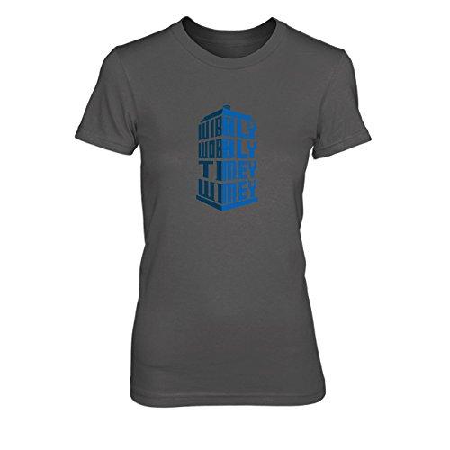 Wibbly Wobbly Timey Wimey - Damen T-Shirt, Größe: M, Farbe: grau