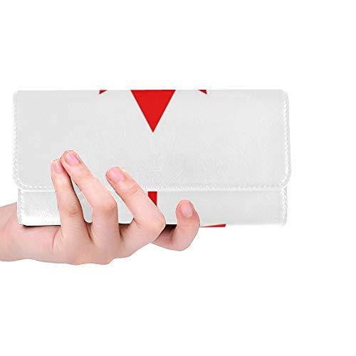 Einzigartige Benutzerdefinierte Kanada Flagge Nationalflagge Kanada Kanada Frauen Trifold Wallet Lange Geldbörse Kreditkarteninhaber Fall Handtasche