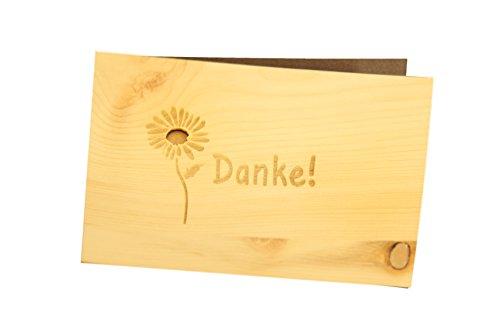 KE - 100% handmade in Österreich - Postkarte, Geschenkkarte, Grußkarte, Klappkarte, Karte, Einladung, Holzart:Zirbe ()