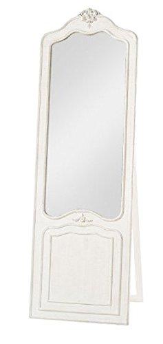 Specchiera suite bianca con appoggio di legno con fregio centrale stile vintage L'ARTE DI NACCHI NT-25