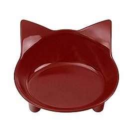 Lorjoyx Pet Ciotole d'Acqua Cibi Bocce Cat Piatti Shallow Ampia Fatica Stress Relief Disegno Sveglio Feeder