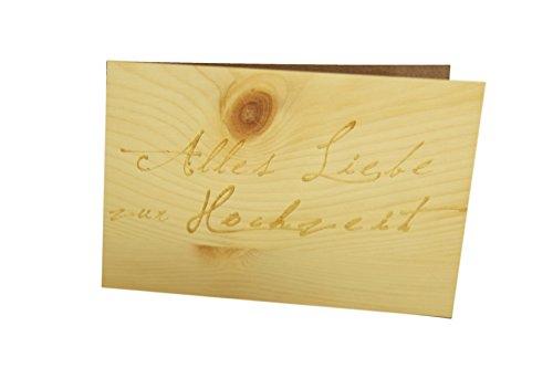 Holz-Glückwunschkarte zur Hochzeit