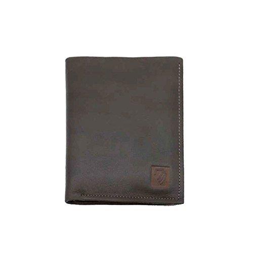 ieftasche Die erste Schicht Rindsleder Business Grau Wallet Mini Card Paket Praktische Verschleißschutz-Zero Wallet Business Casual tägliche Clutch ()