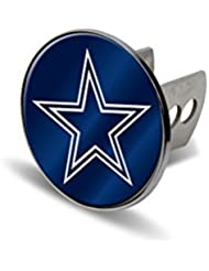 NFL Dallas Cowboys Laser Cut Metal Hitch Cover, Large, Silver by Rico