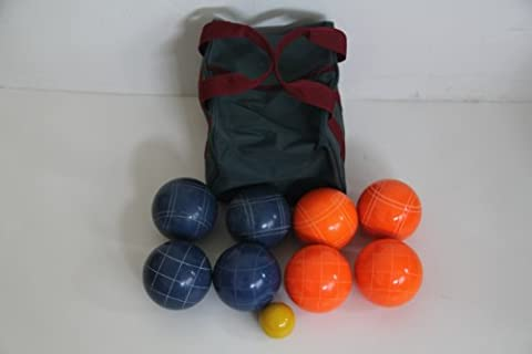 Premium Quality EPCO Tournament Bocce Set - 107mm Blue and Orange Bocce Balls...