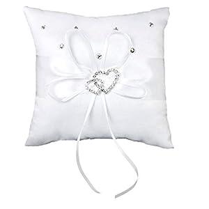Ruiting Mini Ringkissen Exquisite Liebe Kissen Bearer Braut Startseite Kissen Dekor Soft Hochzeit Ringkissen Weiß Homedekor