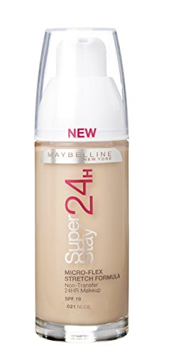 Maybelline Superstay 24HRS 21 Nude Beige Frasco dispensador - base de maquillaje (Nude Beige, Piel mixta, Piel seca, Piel normal, Piel grasosa, Piel sensible, Frasco dispensador, 24 h, Francia, 33 mm)