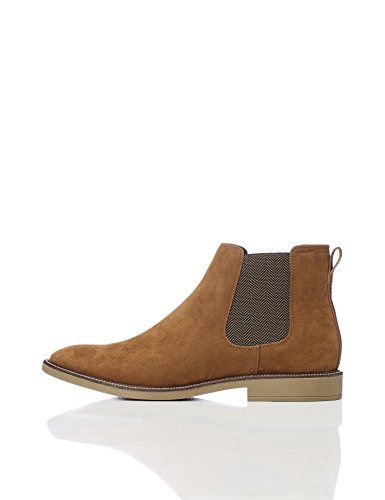 FIND Herren Chelsea Boots, Braun (Tan), 44 EU (Chelsea Boots Wildleder)
