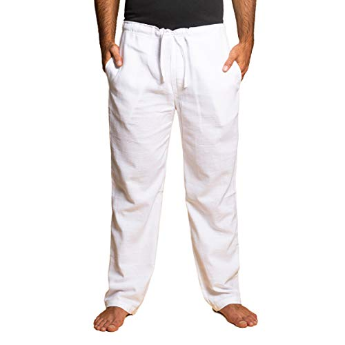 PANASIAM Pants,T01 in White, L