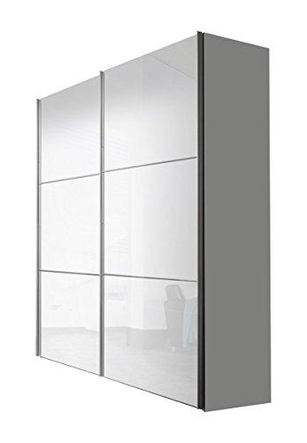 Express Möbel Schwebetürenschrank 2-türig Bianco Weiß Hochglanz BxHxT 175x216x68 in verschiedenen Farben und Größen