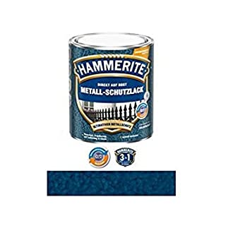Hammerite Direct to Rust Hammered Finish Metal Paint Dark Blue 250ml