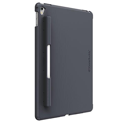SwitchEasy CoverBuddy Hard Polycarbonat Rückseite Case Ständer mit Bleistift Halterung grau für Apple iPad Pro 9.7, Space Gray (Klar, Platten Bulk)