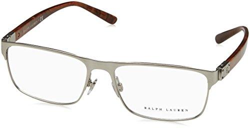 Preisvergleich Produktbild Ralph Lauren - RL 5095,  Rechteckig,  Metall,  Herrenbrillen,  BRUSHED MATTE SILVER(9030 A),  54 / 16 / 140