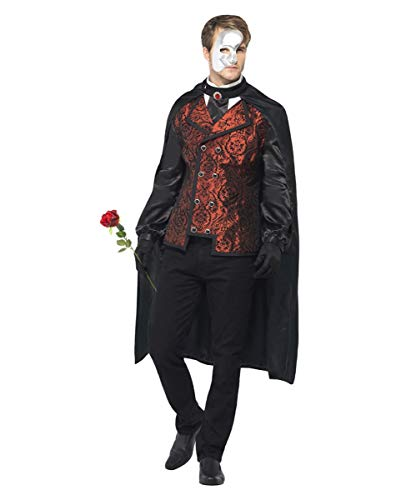 Dunkle Phantom Kostüm - Dunkles Oper Phantom Kostüm M