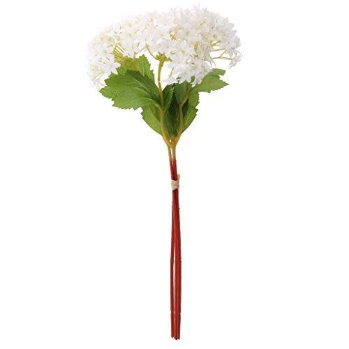 PETSOLA 3pcs Flor De Hortensia Artificial Tallo Boda