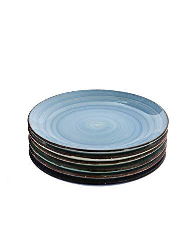 Steingut Serie Baita - Teller/Schalen/Becher zur Auswahl Größe 6 x Dessertteller