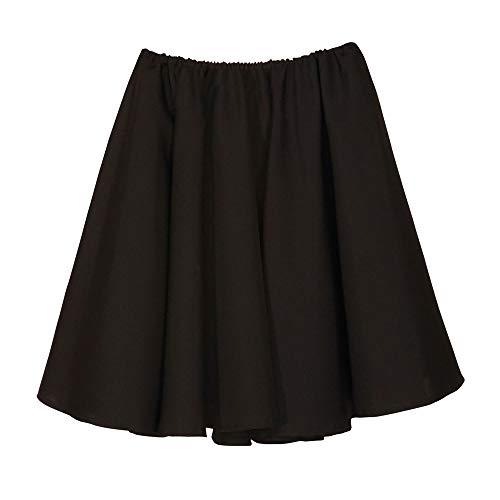 WIDMANN Black 1950s Rock N Roll Grease Jive Skirt