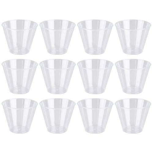 BESTONZON 50 Stücke 50 ml Einweg Transparent Hartplastik Verkostung Tassen Verdicken Trinkbecher Becher für Hochzeit