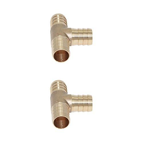 Sharplace Paire De Adaptateur Barbelé En Laiton Filetage Raccord Connecteur Forme T - 16mm