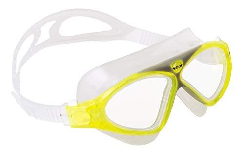 Seac Brille VISION Schwimmbrillen für Pool und Freiwasser für Kinder und Jugendliche, gelb, one size