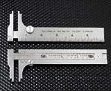 """Starrett 1025-5 noni, calibri fissi a corsoio, in acciaio INOX, per esterno e interno misure cm, 0,00 cm (0"""")-9,52 cm (3,75"""") gamma 0,04 (0,015625 risoluzione cm, profondità Jaw (1,375 3,49 cm"""