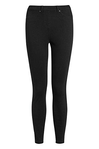 next Damen Denim Leggings Aus Jersey Kurzgröße Schwarz EU 44 (UK 16) Petite Spandex Jersey