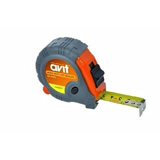 AVIT AV02011 Heavy Duty Tape Measure, Grey/Orange, 5 m/16 ft