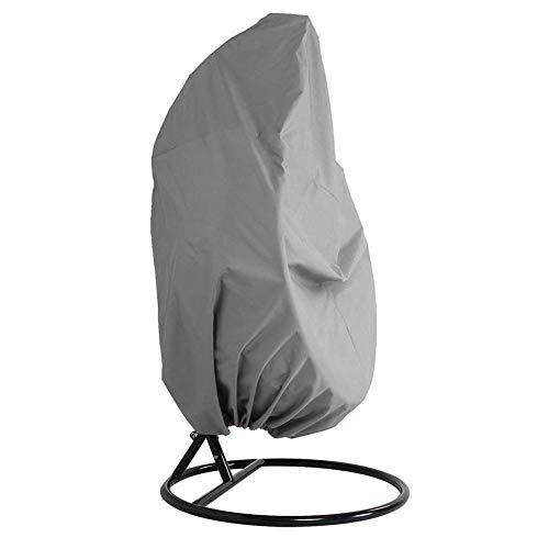 Abdeckung für Hängesessel - Cocoon Egg Stuhl Gartenmöbel Schutzabdeckung für Rattan-Schaukelstuhl - Wasserdichter Oxford-Stoff mit PVC-Futter Free Size grau
