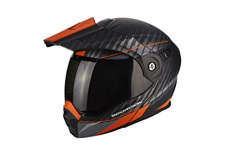 Scorpion ADX-1 Dual Enduro Klapphelm XXL (62/63) Schwarz Matt/Orange