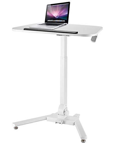 Laptopständer DD Höhenverstellbares Stehpult/Stehpult/Ständer Mit Tilt-Tischplatte Und Rädern In Weiß -Werkbank