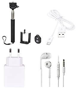High Quality Selfie Stick , 1.0 Amp USB Charger, USB Cable,3.5mm Jack Handsfr...