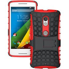 Chevron Hybrid Military Grade Armor Kick Stand Back Cover Case for Moto X Play (Red)  available at amazon for Rs.149
