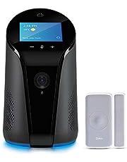 Qubo Home Security Combo - AI Enabled Wi-Fi Smart Indoor Camera with Alexa Built-In Speaker and Door/Window Sensor