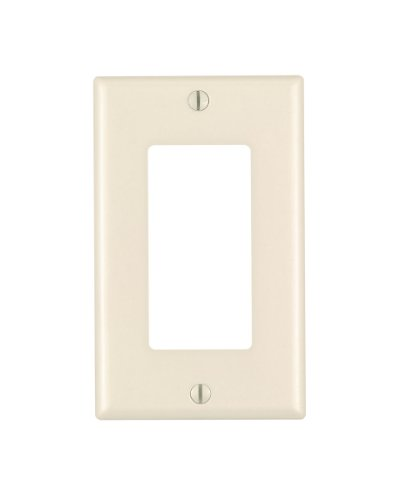 1 Gang Decora Plate Light Almond (Wall Plate Light Almond)
