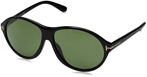 Tom Ford Herren FT0398 6001N Sonnenbrille, Schwarz, 60