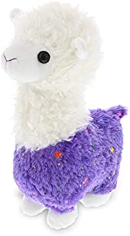 DolliBu Sparkle Purple Llama Stuffed Animal Plush, Kids & Adults Huggable Cuddle Llama Gifts, Cute Stuffed