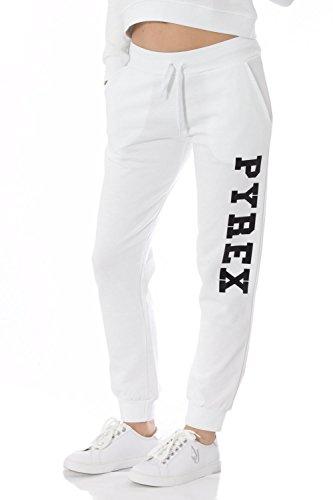 PYREX - Pantaloni donna con stampa regular fit 33312 Bianco