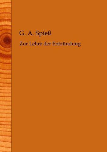 Zur Lehre der Entzuendung PDF Books