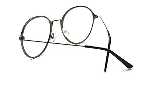 Mode Metallrahmen Damenbrille runder flacher Rahmen runder Rahmen aus Kupfer grau